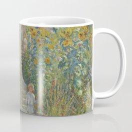Claude Monet The Artist's Garden at Vétheuil 1880 Painting Coffee Mug