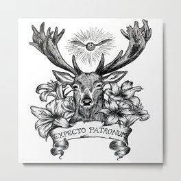 expecto patronum deer Metal Print