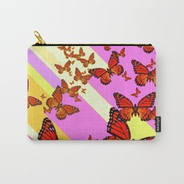 Sun Light Beams Butterflies Migrating Pink-yellow Carry-All Pouch