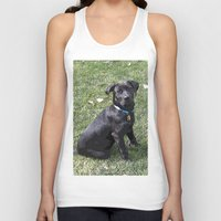 lab Tank Tops featuring Black Lab by Sierra LaFrance