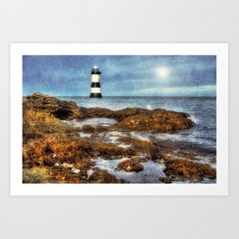 Penmon Lighthouse Art Print