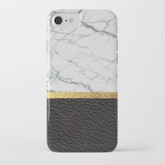 marble and leather Slim Case iPhone 7