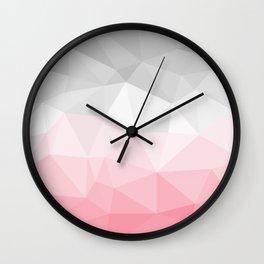 pink and grey polygon 2018 Wall Clock
