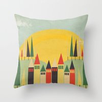 rushmore Throw Pillows featuring Rushmore by Kayla Cole