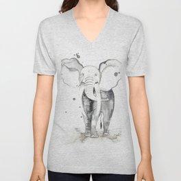 aquarela Elefante Unisex V-Neck