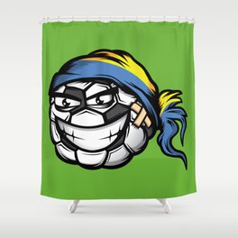 Football - Ukraine Shower Curtain
