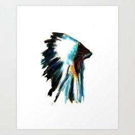 Indian Headdress Native America Illustration Art Print