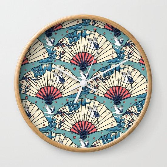 Oriental FanTasy Wall Clock