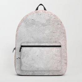Real Marble and Rose Gold Mermaid Sparkles III Backpack
