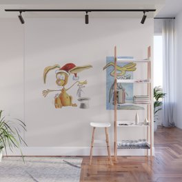 A nice, magic bunny Wall Mural