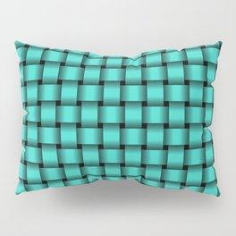 Small Turquoise Weave Pillow Sham
