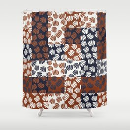 Patched Abstract Floral III Shower Curtain