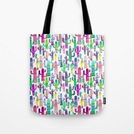 Watercolor Cacti - Pinks - Saguaros Tote Bag