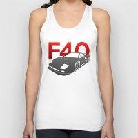 ferrari Tank Tops featuring Ferrari F40 by Vehicle