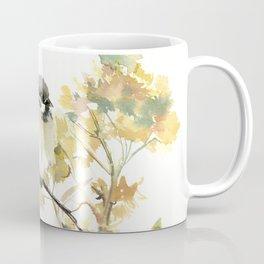 Sparrow and Dry Plants, fall foliage bird art bird design old fashion floral design Coffee Mug