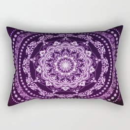 Purple Glowing Soul Mandala Rectangular Pillow