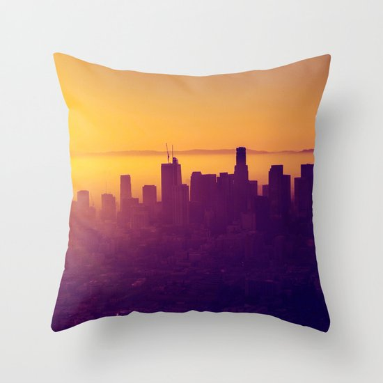 Los Angeles at Sunset Throw Pillow