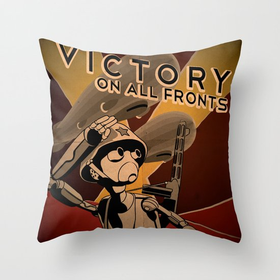 Propaganda Series 4 Throw Pillow