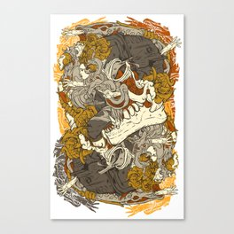 VECTORICAL DANCING Canvas Print