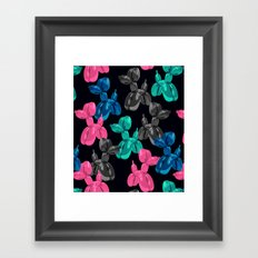 Balloon Dog Pattern Framed Art Print