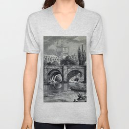 Cathedrals, abbeys and churches of England and Wales Unisex V-Neck