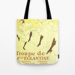 """Henri de Toulouse-Lautrec """"Troupe Mademoiselle Eglantine"""" Tote Bag"""