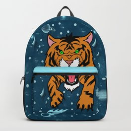 Lucky Tiger Jean Jacket (We Bare Bears) Backpack