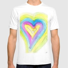 Spring Heart Mens Fitted Tee White MEDIUM