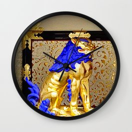 Gorudenraion, golden lion Wall Clock