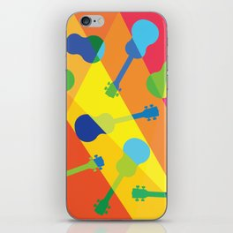 ukulele pattern iPhone Skin