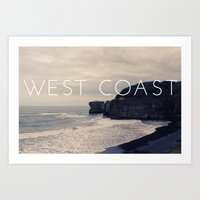 west coast Art Prints featuring West Coast by CaraGriffith