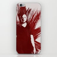 sam winchester iPhone & iPod Skins featuring Watercolor Sam Winchester by fairandbright