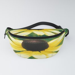 Vibrant Yellow Coneflower Fanny Pack