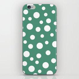 Crazy Dots: Comfrey Green  iPhone Skin