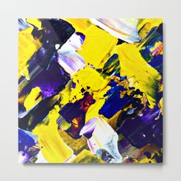 Yellow Intersections Metal Print