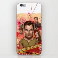 dexter iPhone & iPod Skins featuring Dexter by Nithin Rao Kumblekar