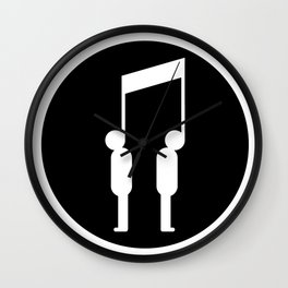 Music connects people Wall Clock