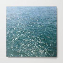 Deep Teal Sea Metal Print