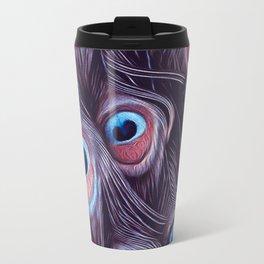 PEACOCK FEATHERS1 Travel Mug