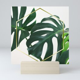 LUXE x Plant Life - Gold white planets lush Mini Art Print
