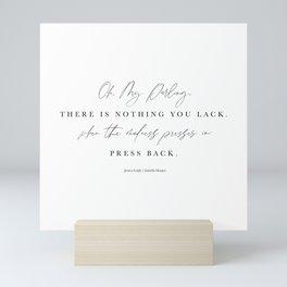 Press Back [with Jessica Leigh] Mini Art Print