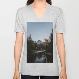 Half Dome from Sentinel Bridge Unisex V-Neck