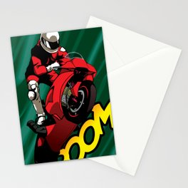 Biker - Green Stationery Cards