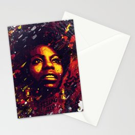 Nina Simone | Pop art | Digital portrait Stationery Cards