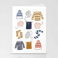 knitting Stationery Cards featuring Knitting by Holly Dunn Design