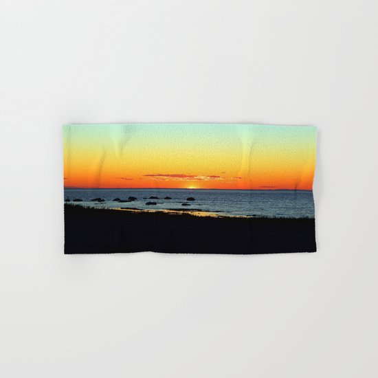 Traditional Seaside Sunset Hand & Bath Towel