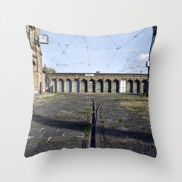 Old Tramstation - Depot - Berlin - Pankow Throw Pillow
