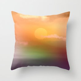 Sunrise  and sky. Throw Pillow