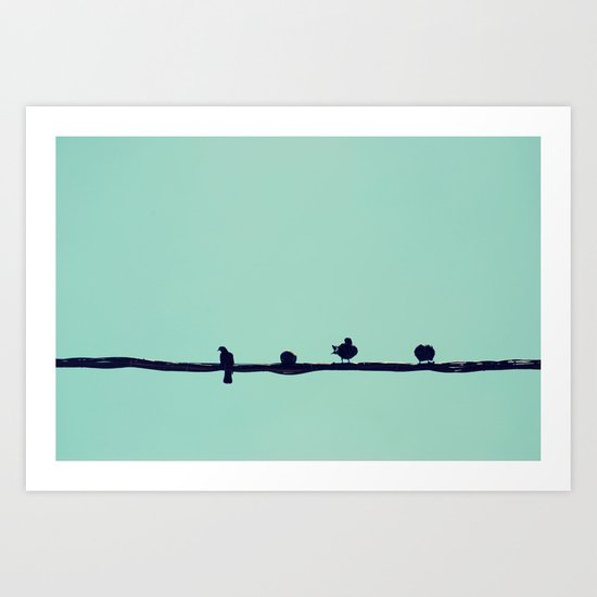 Waiting for the Sun Art Print