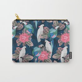 Tropical birds. Blue pattern Carry-All Pouch